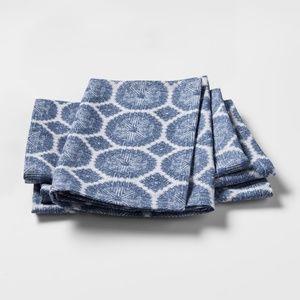 "Threshold Napkins 4 Pack 20"" x 20"" Blue Med Cotton"
